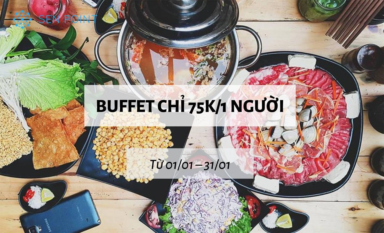 Buffet lẩu – nướng chỉ từ 75K/người tại nhà hàng Gourmet