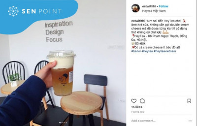 Review của khách hàng về trà sữa Heytea