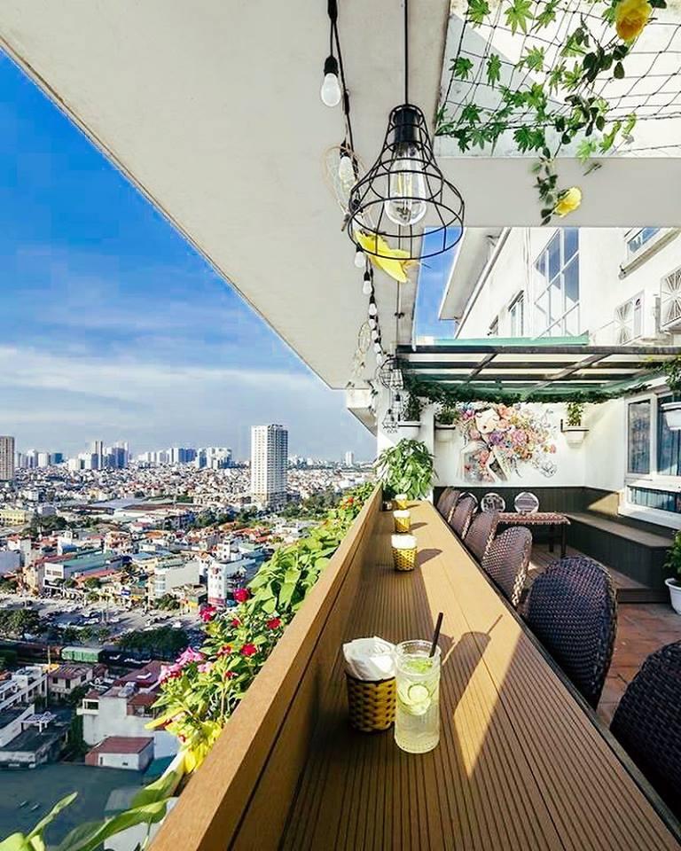 View bao quát từ tầng 16 tòa nhà Vinaconex 7 số 19 Đại Từ
