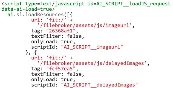 Google crawls the URLs in this script