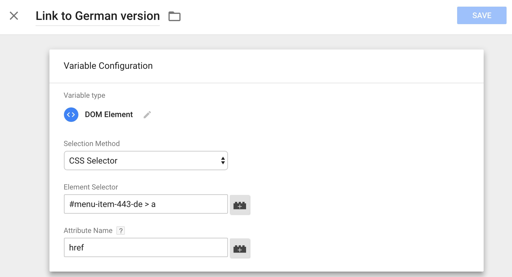 Configured variable for link to other language version