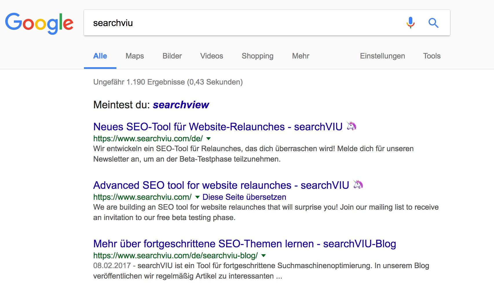 Search results for searchVIU after removing hreflang