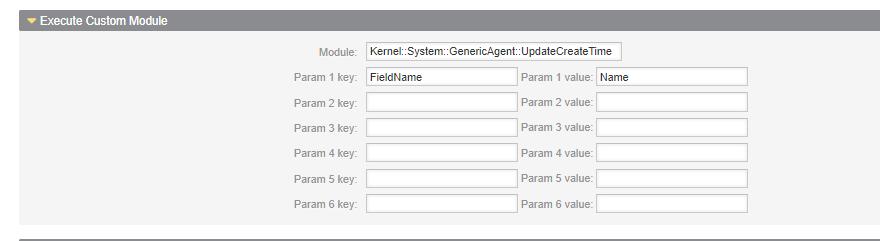 Execução de Modulo Personalizado