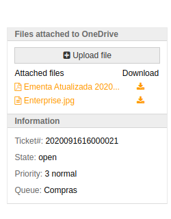 Files customer screen