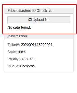 Widget OneDrive customer screen