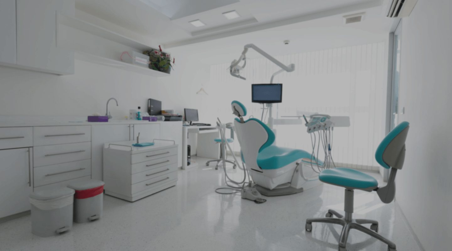Dentist clinic with chairs and equipments