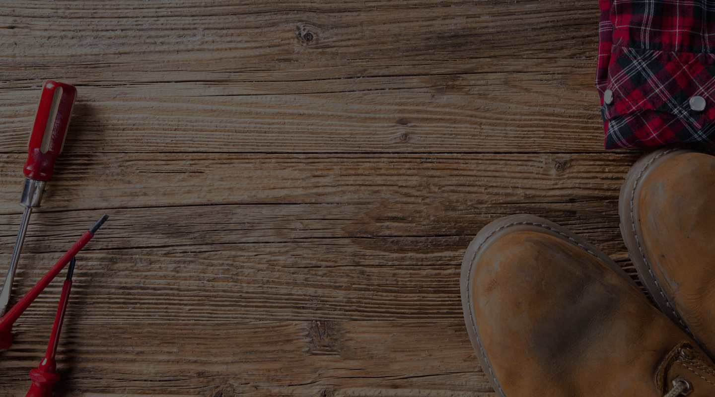 Wooden floor with shoes and other things