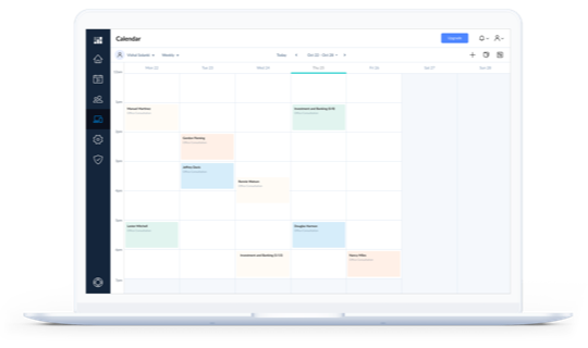 Setmore calendar open in Mac device