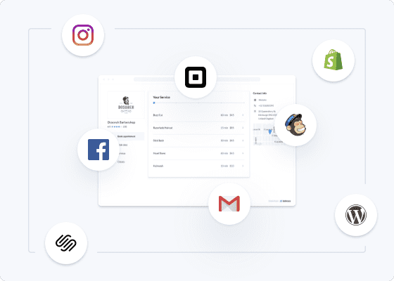 Icons of Setmore integrations