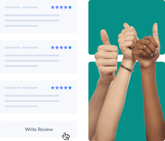 positive customer reviews on booking page
