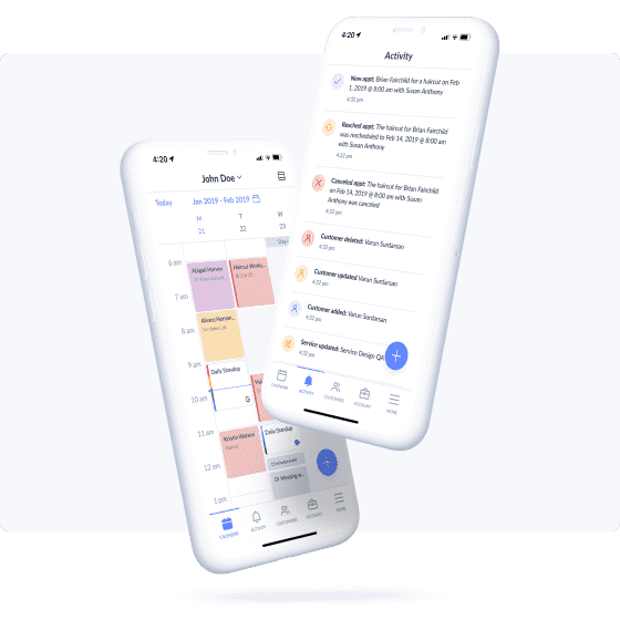 Appointment scheduling open on iphone