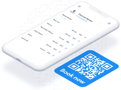 setmore scan code feature for booking