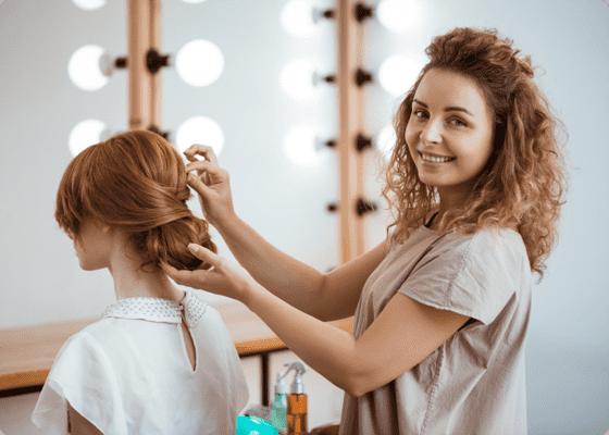 a salon professional