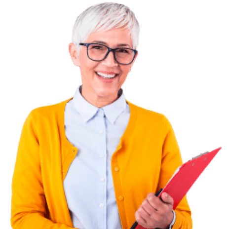 Smiling lady accountant booking appointments