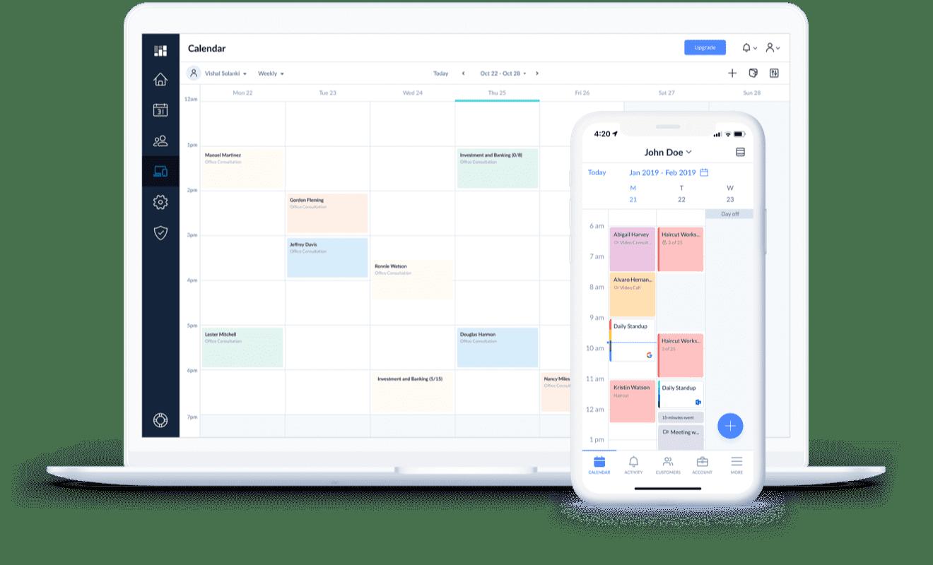 setmore app on desktop and mobile