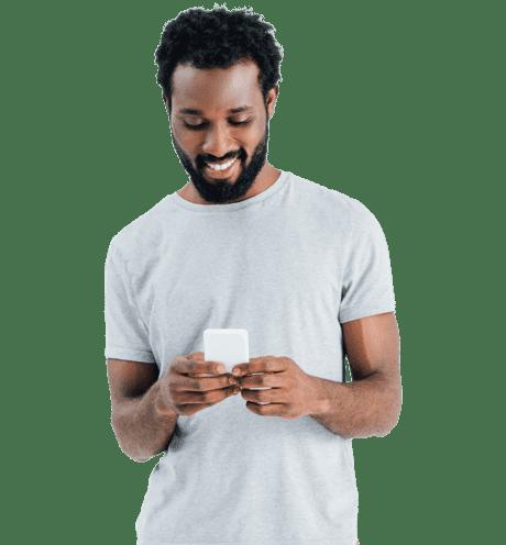 a man checking his mobile
