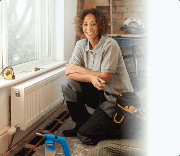 a female home repair technician