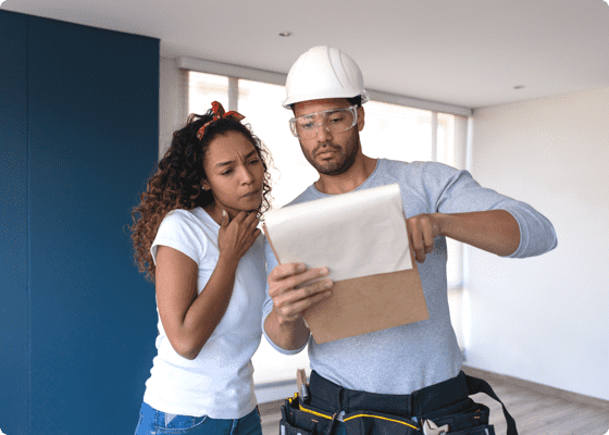 two home repair professionals