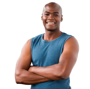 A male personal trainer