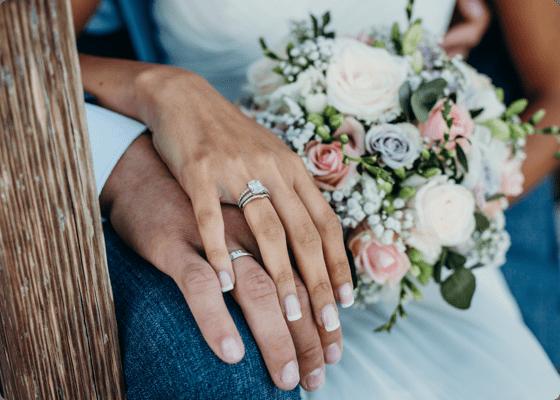 Couple wedding rings photoshoot