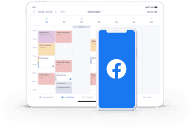 setmore booking page integration with facebook