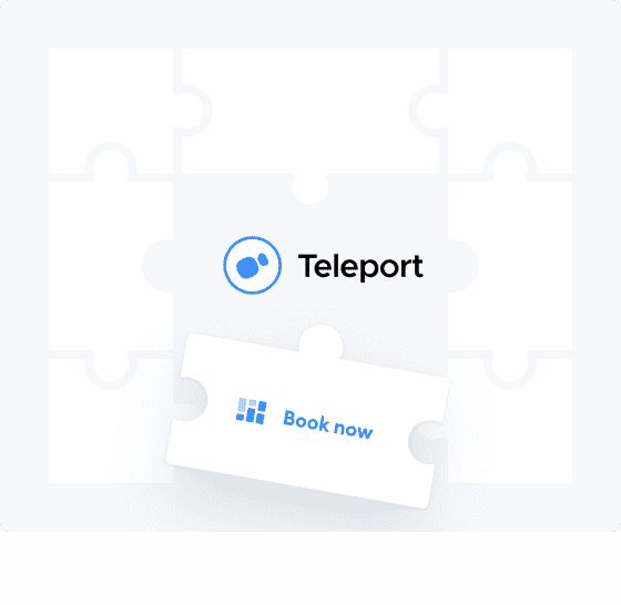 teleport book now button
