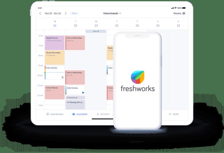 setmore freshworks calendar page