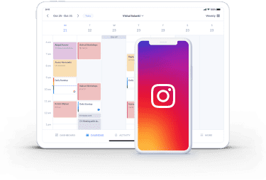 instagram feed on booking page with setmore