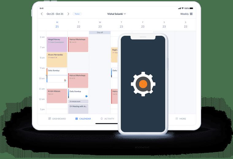 serviceminder setmore calendar page