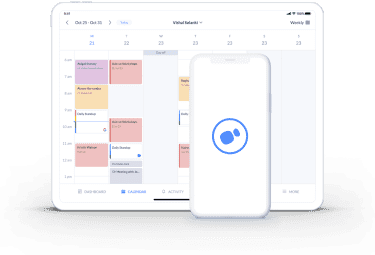 calendar page on setmore integration with teleport