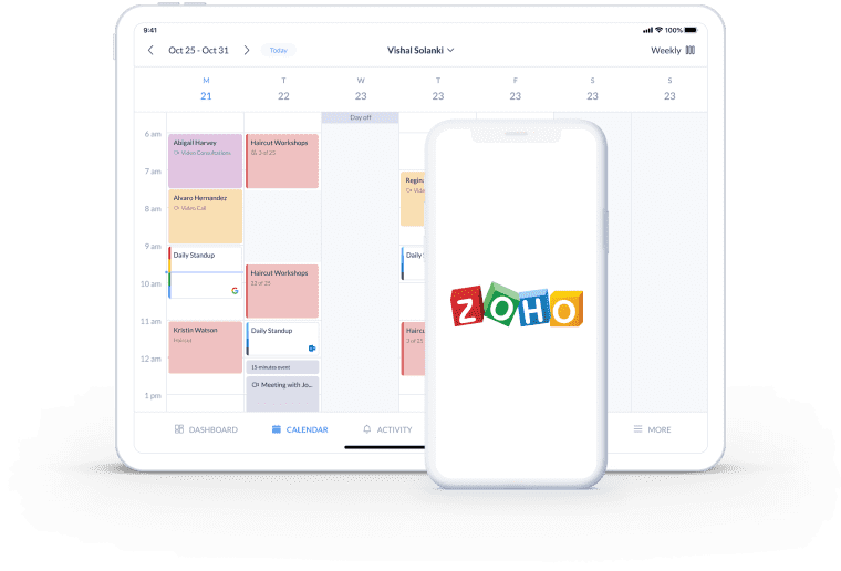 use setmore for importing contacts to zoho