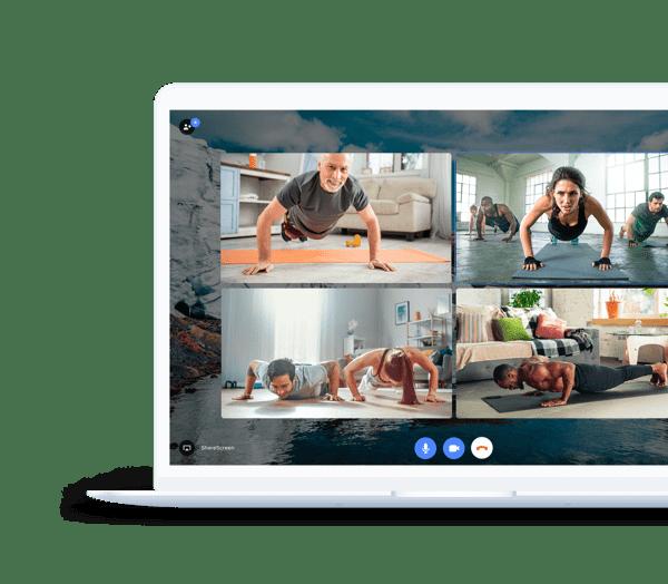 Virtual gym class on Teleport