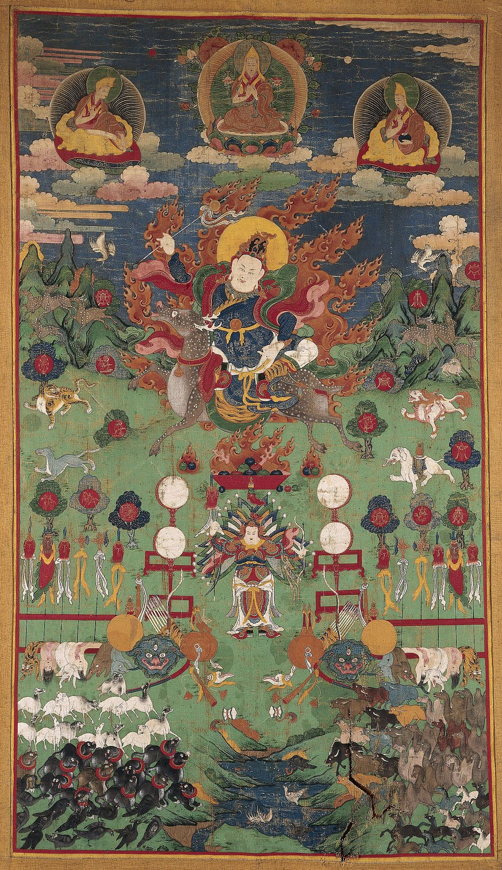 Marseille/Gesar_of_Ling_riding_a_reindeer._Distemper_painting._Wellcome_L0040370.jpg