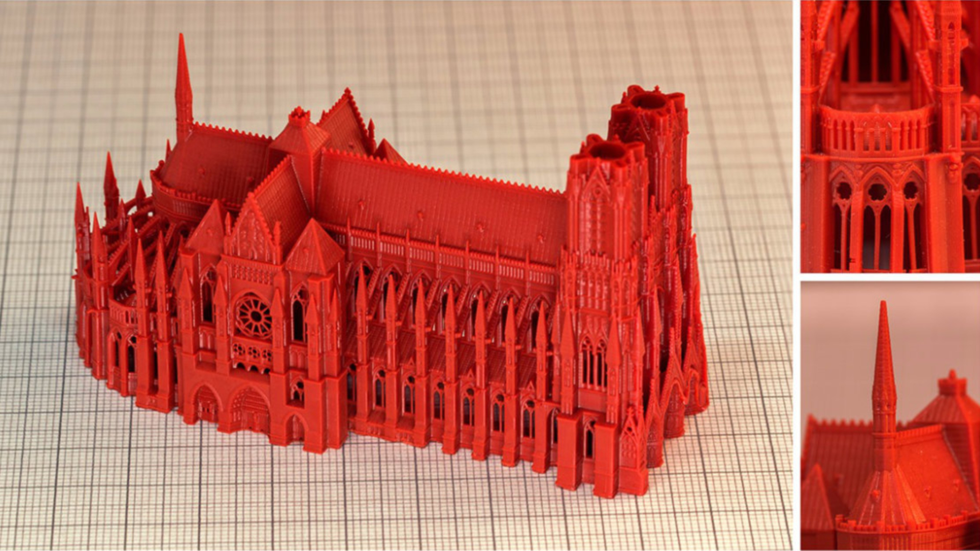 reims cathedral dlp 3d print 9cm