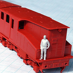 scale train model figurine