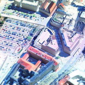 hologram city urban model building 3d master plan