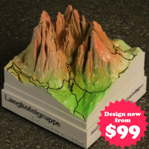 mountain summit peak miniature souvenir gift 3d