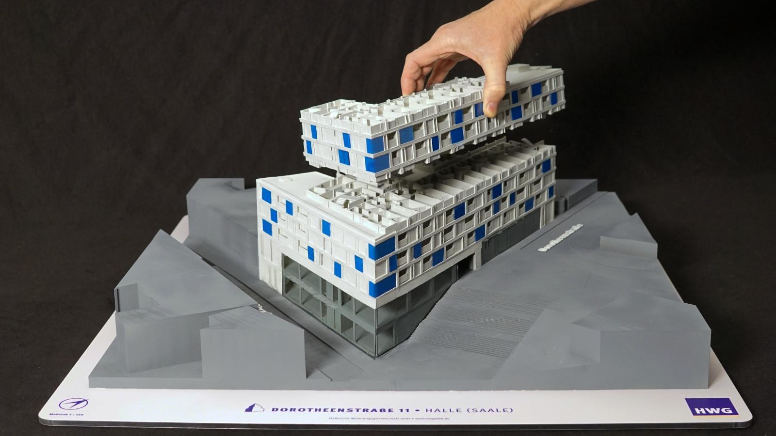 3D printed model in scale 1:150