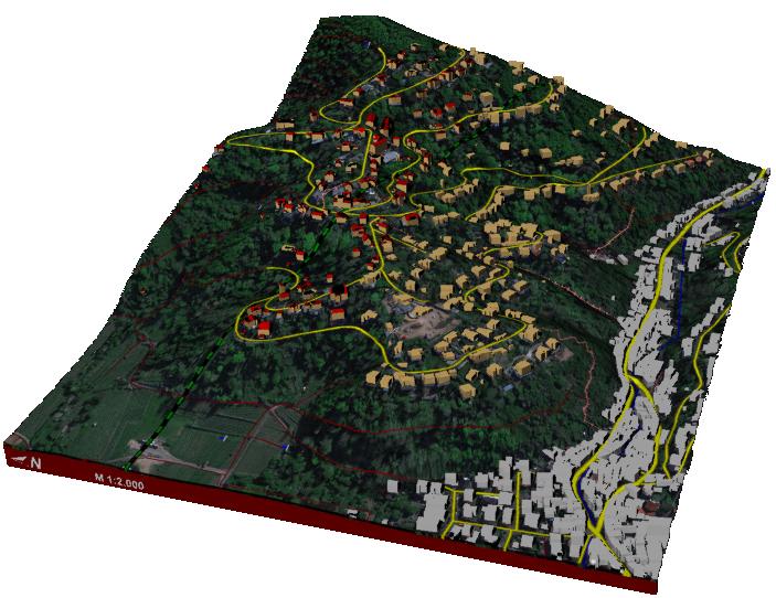 windfarm environmental impact terrain map 3d print