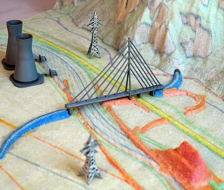 power plant bridge tunnel 3d print