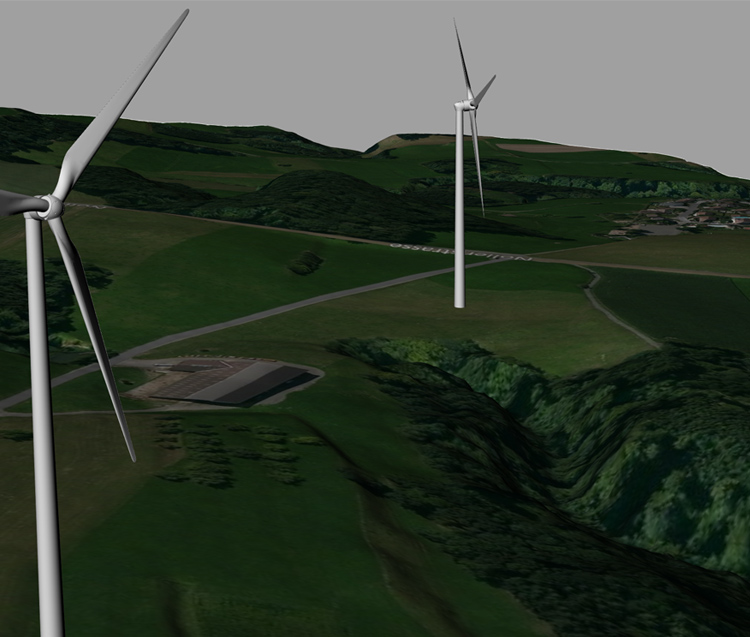 windpark visibility terrain map 3d print