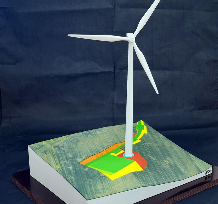 windkraft baustelle erdarbeiten geländemodell 3d print