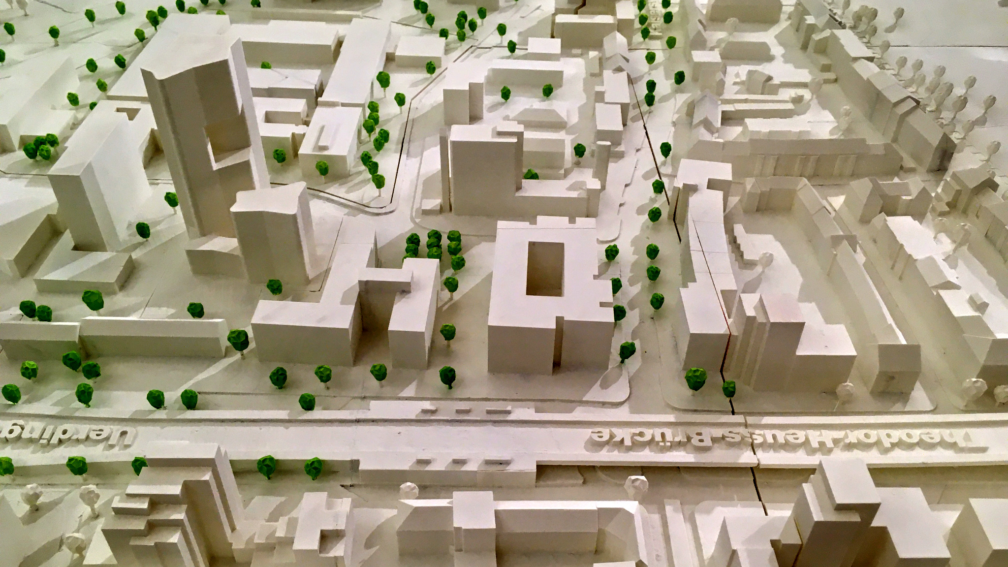 Public consultation for area Kennedydamm in 		scale 1:500