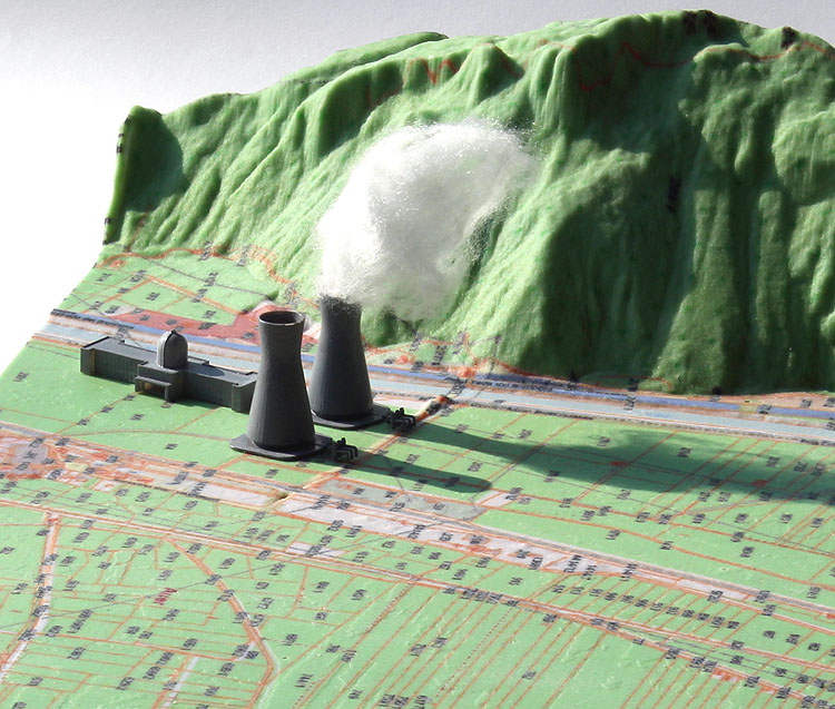 power plant cadastrial map 3d print