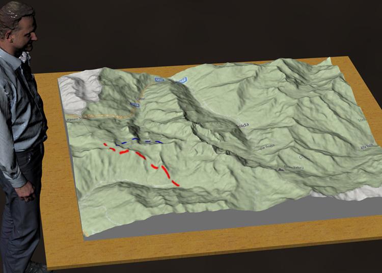 historic battle projektor beamer relief map 3d print