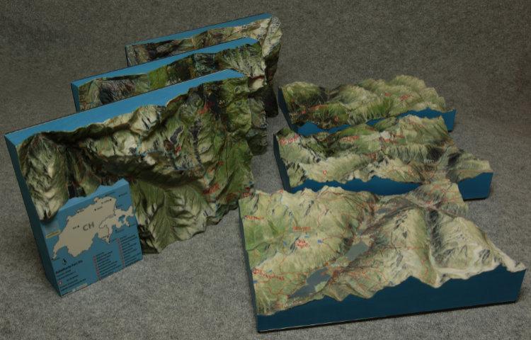 glacier terrain map 3d print