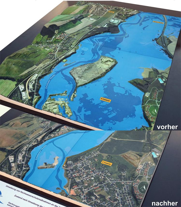hochwasserschutz deich überflutung map 3d print