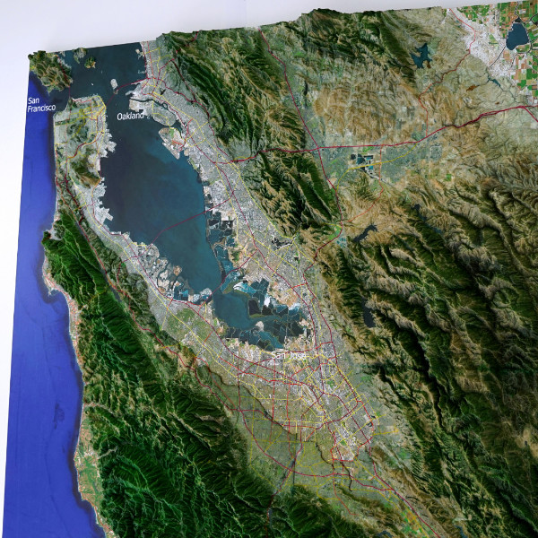 map san andreas francisco bay monterey silicon valley
