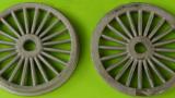 Speichenräder (1300mm) 2x, Neusilber