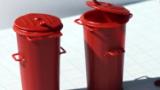 DDR Mülltonne mit Sicken; M 1:22,5; 2-teilig